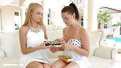 Nancy A and Dyanna in Afternoon nap lesbian scene by Sa