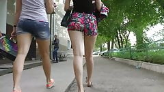 Sexy Street Ass in Shorts from Russia