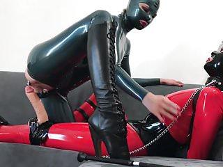 Bupshi - education of submissive latex slut