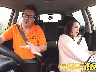Video bokep online Fake Driving School Instructor gets titty wank from big tits 3gp