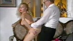older man Fucking Hot Babe On Couch...Wear-Tweed