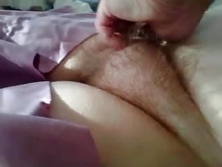 rubbing her chubby hairy mound,