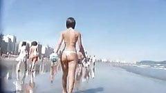 Nice Ass Walking on the Beach
