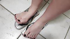 Flip flops dangling