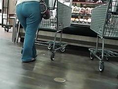 Mature latina at supermarket