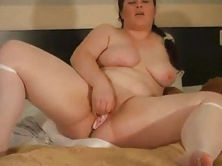 Hot Fat BBW Ex GF loves playing with her pussy