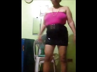 FilipinoGranny 65 model micro-mini no panties cam(part 1)