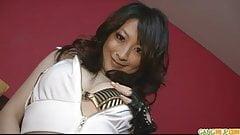 Brunette Asian girl Asuka fondled and fucked hard