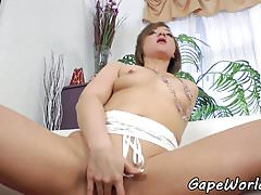 Glamcore euro fucked in the gaping asshole