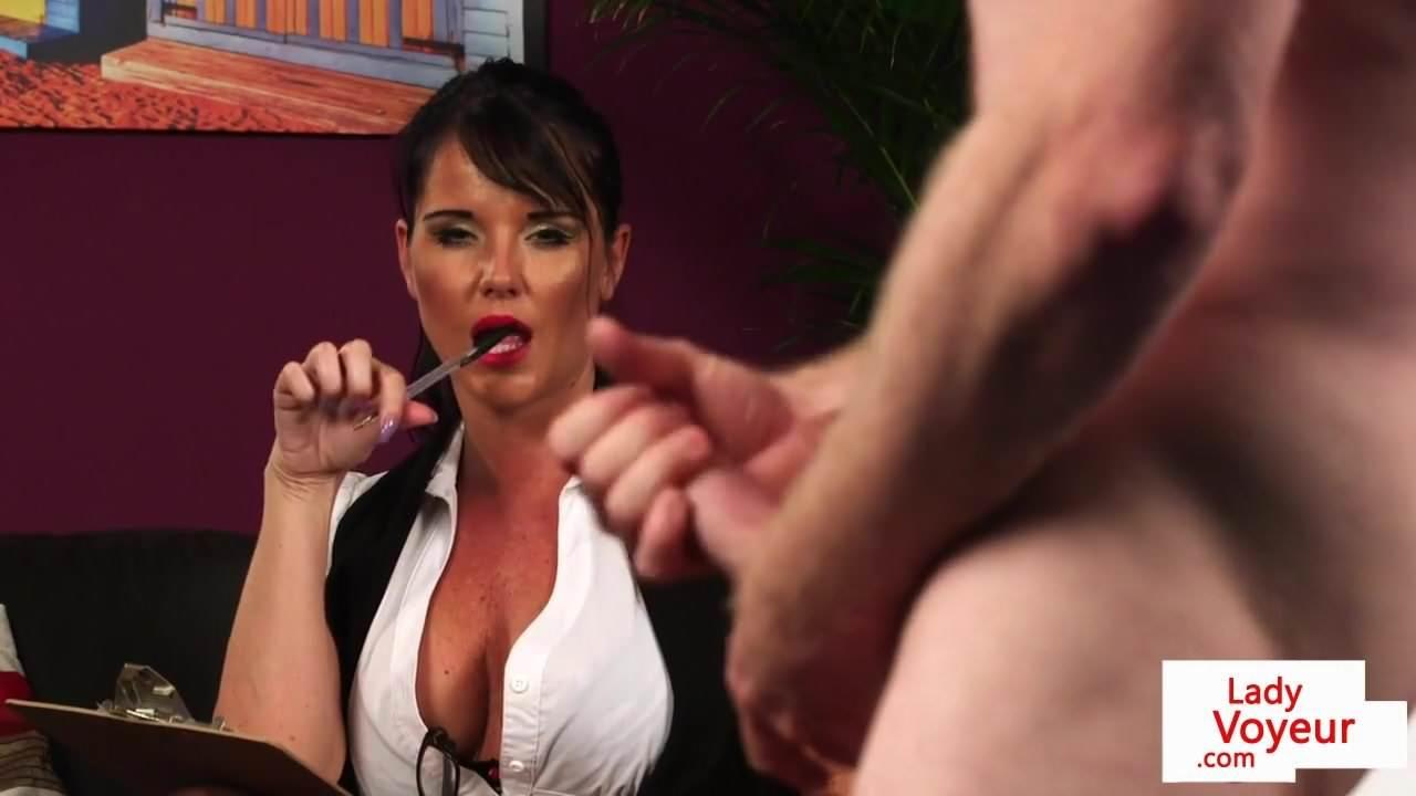 British Milf Voyeur Instructs Her Sub To Jerk Free Porn Bd-6559
