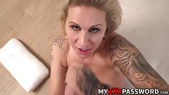 Busty blonde Ryan Conner takes it deep while moaning in joy