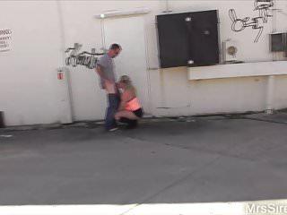 Wife Fucks in Hubby's Friend in Public