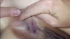 husband playing his wifes asshole's Thumb