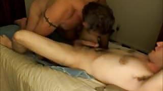 Twink Fucks Daddy On Squeaky Bed