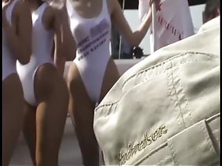Japanese Racequeen White Leotard