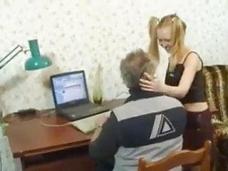 STP1 Her Visit To Grandpa Alwayus Raises His Cock !