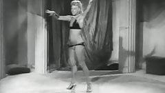 Blonde Dancer Shows off Her Curves (1950s Vintage)