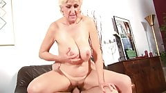 Blonde Granny Whore fuckin