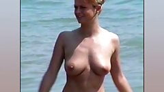 Marina Carmen & Heike Topless on a Beach