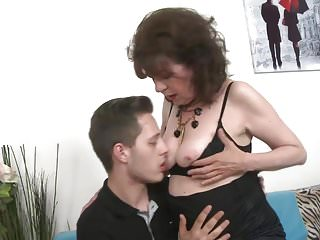 Taboo home fuck with mature cunt and young boy