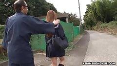 Tied up Japanese schoolgirl, Miu Tamura got throatfucked ver
