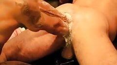 Fisting his slutty hole