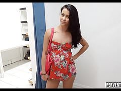 Perving on Tight Teen at store