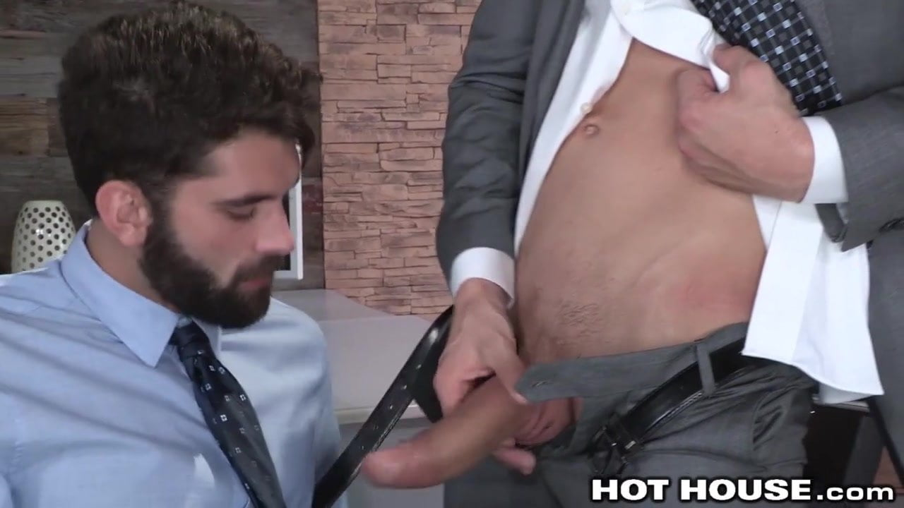 Muscled straight dude tight butt fucked in office