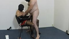 Dom CD playins with sub dick
