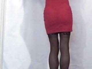 Pink Front Zipper Mini-Dress Back View