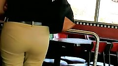 Nice Latina ass in Khakis with VPL