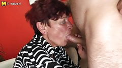Mature mother seducing her boy for hard sex