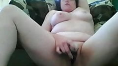 Horny Fat Chubby Teen EX GF masturbating her Pussy