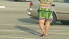 Candid parking granny watch (meaty legs)