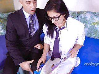 Talanted girl gets teacher's cock
