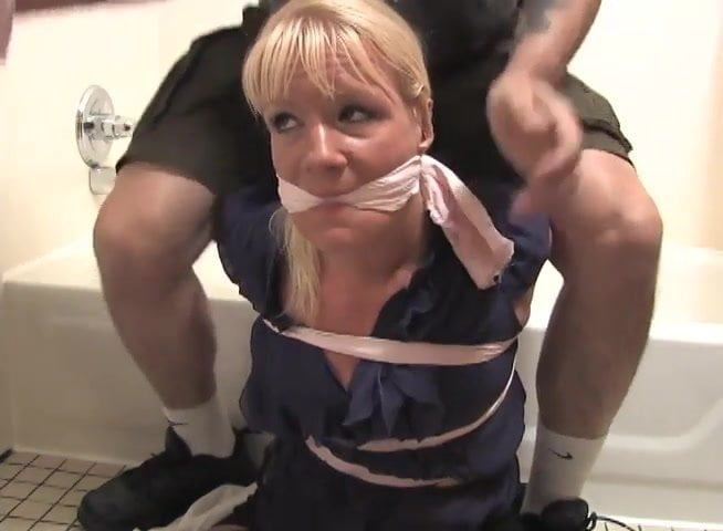 Mature tied and gagged