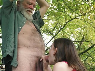 Cute Teen Seduces Old Man And Fucks Hardcore Gets Pussy Lick