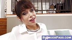 Bombastic Alana Cruise enjoys choking hard on a big dick