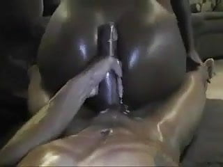 Big black ass bouncing on that cock