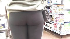 Cute College Chick in Black Leggings (Checkout Line)
