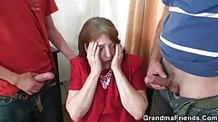 Nice surprise for mature office woman