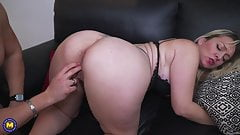 Modern mature mom fucks young lover