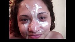Cum on her Boca Cara