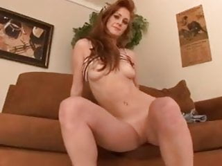redhead gets blowbang & huge facial