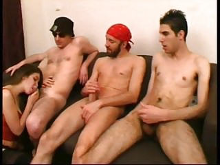 Lola teaches groupsex to a milf