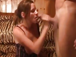 Amateur - Dble Suck Big Cock CIM Facial MMF Threesome