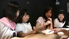 Japanese Group Sex Party at Girls Bar