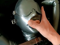 Latex fuck and Facial