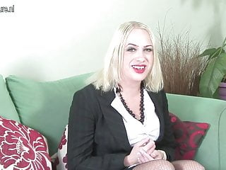 First time on cam British MILF getting naked on casting