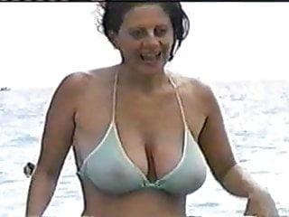 see through bikini Granny